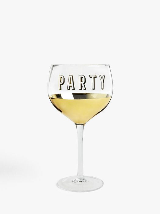John Lewis Gold Party Wine Glass £4.50
