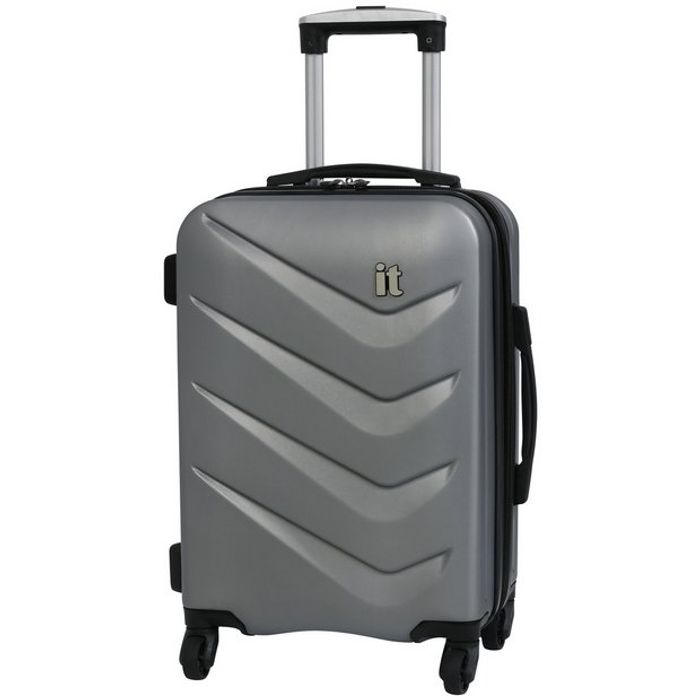 It Luggage Expandable 4 Wheel Hard Cabin Suitcase - Silver £12.50 at Argosw