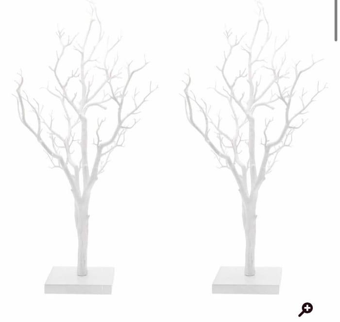 Decorative White Twig Tree 2 Pack Bundle