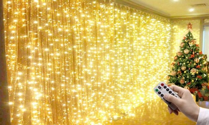 Christmas Curtain Lights