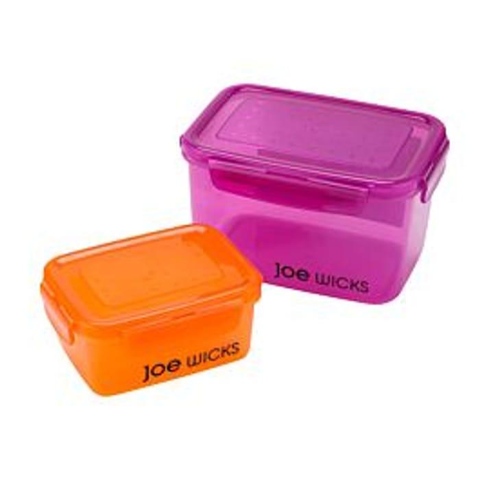 Joe Wicks Rectangular Container Rectangular Set - 2 Piece