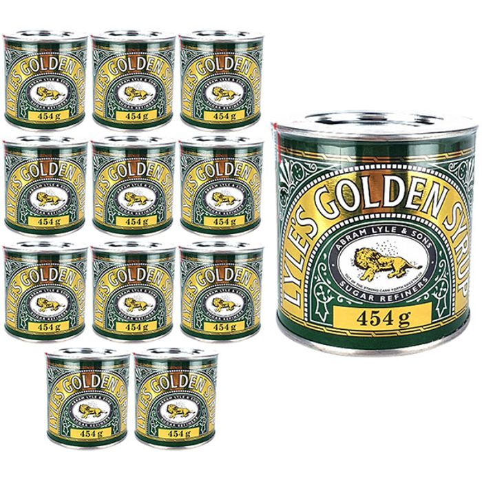 Christmas Gifts Sorted 12 X LYLES GOLDEN SYRUP 454G RETRO CANS