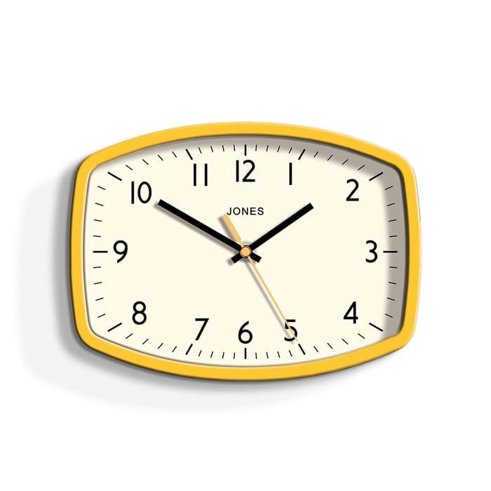 Jones - Yellow Sketch Wall Clock