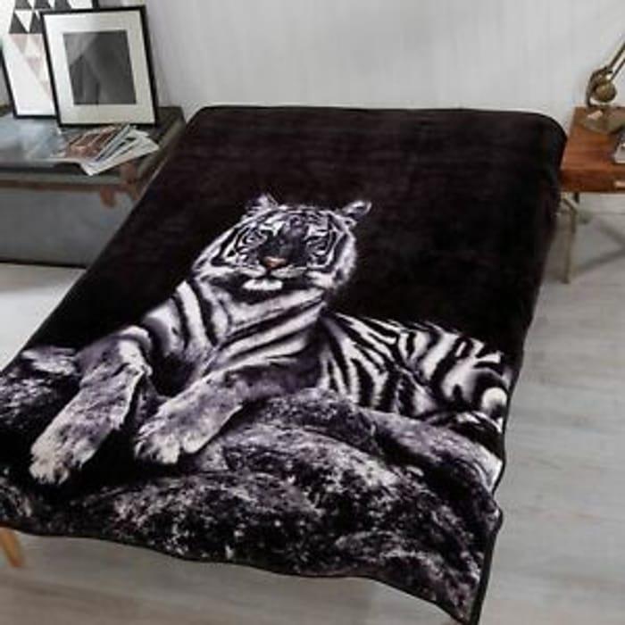 Tiger Mink Fleece Blanket