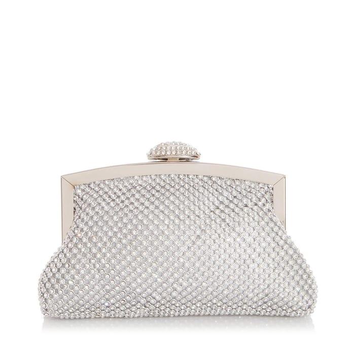 Quiz - Silver Diamante Frame Bag