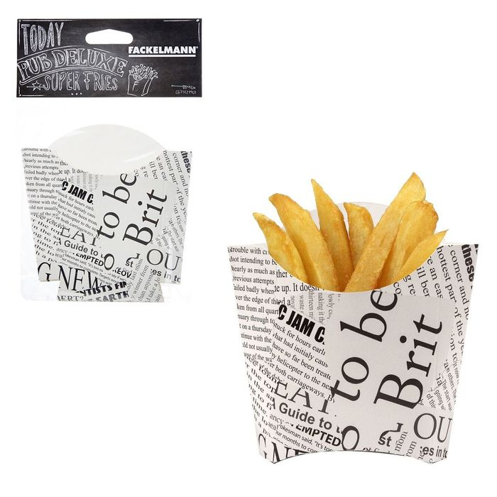 French Fry Holders Takeaway Cardboard Large 10 Piece Chips Fries Food Packaging