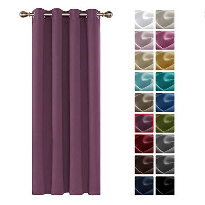 Deconovo Home Decorative Thermal Insulated Blackout Curtain (Many Colours)