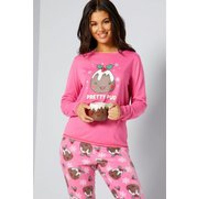 Cheap Pretty Pud Pink Xmas Pyjamas and Mug Set Only £15!