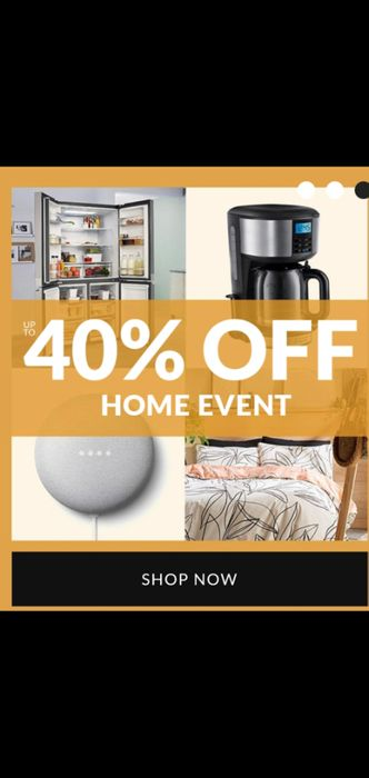 Fashion World up to 40% off Home Event