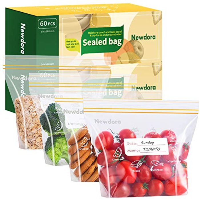 Pack of 60/120, Reusable Food Storage Bags