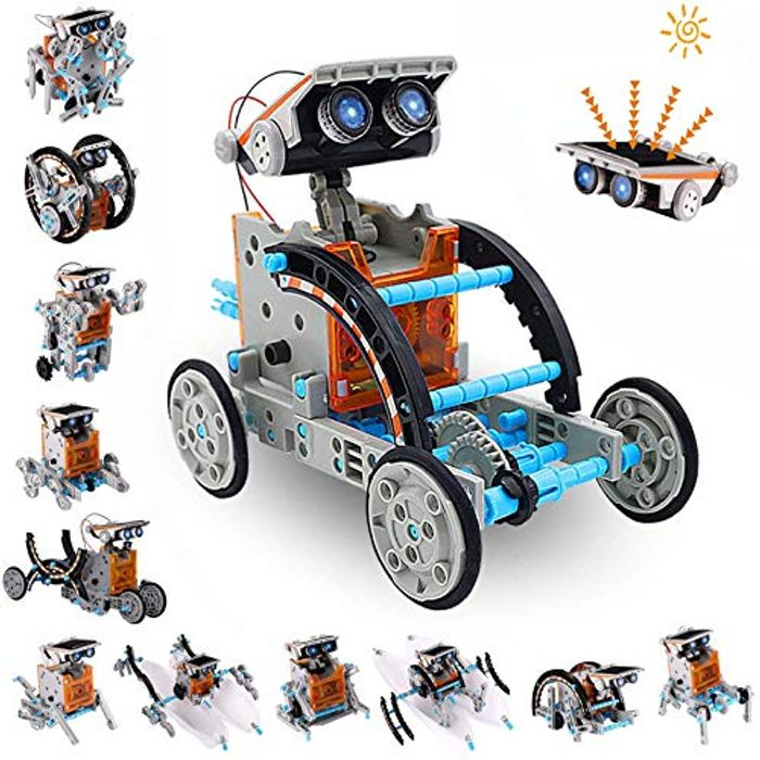 DEAL STACK - 12-in-1 STEM Solar Robot Toy for Kids Age 8-12 + £2 Coupon