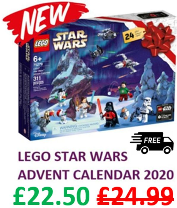 LEGO STAR WARS Advent Calendar 2020 (75279) £22.50 at Amazon + Free Delivery