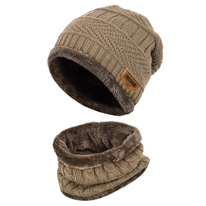 VBIGER Hat and Snood - Fleece Lined - £6.59 at Amazon