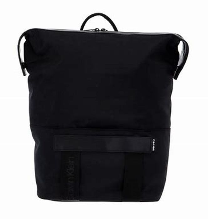 Calvin Klein Nastro Logo Trapezee Backpack in Black