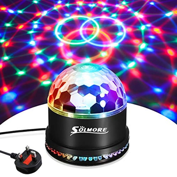 Disco Lights SOLMORE 51 LEDs Party Stage Lights 12W RGB