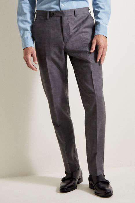 ERMENEGILDO ZEGNA CLOTH Tailored Fit Grey Sharkskin Trouser