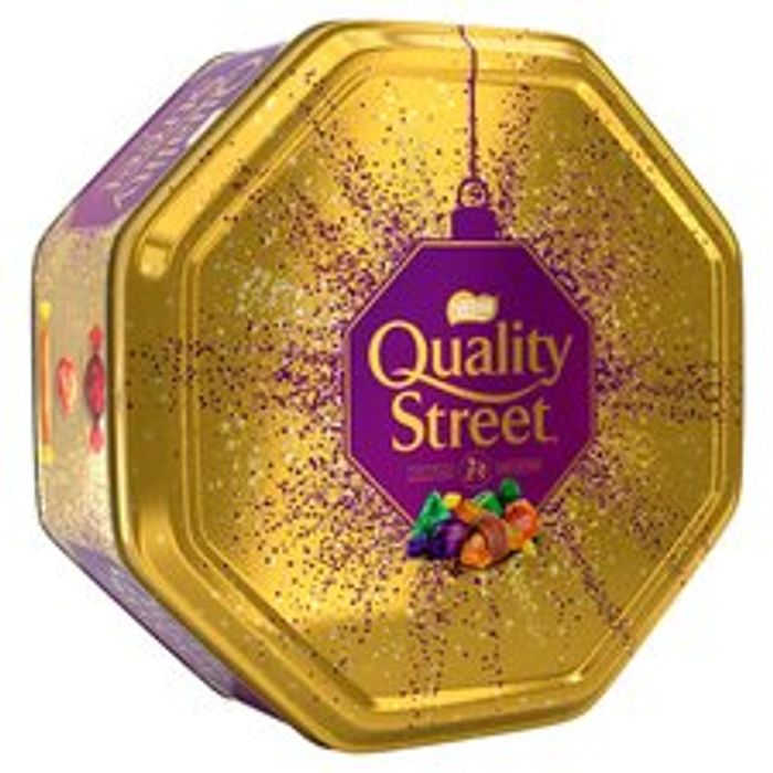 Quality Street Gold Tin 800G at Tesco £5 Clubcard Price from