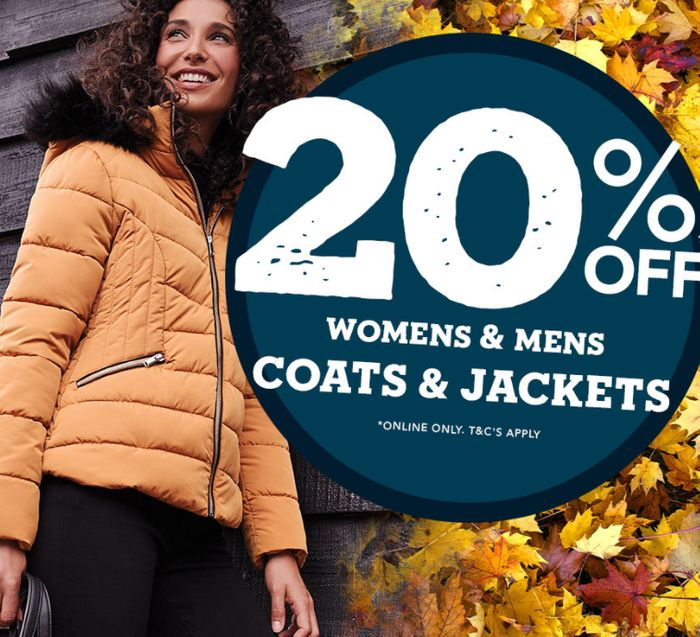 Special Offer - 20% off Coats and Jackets - Online