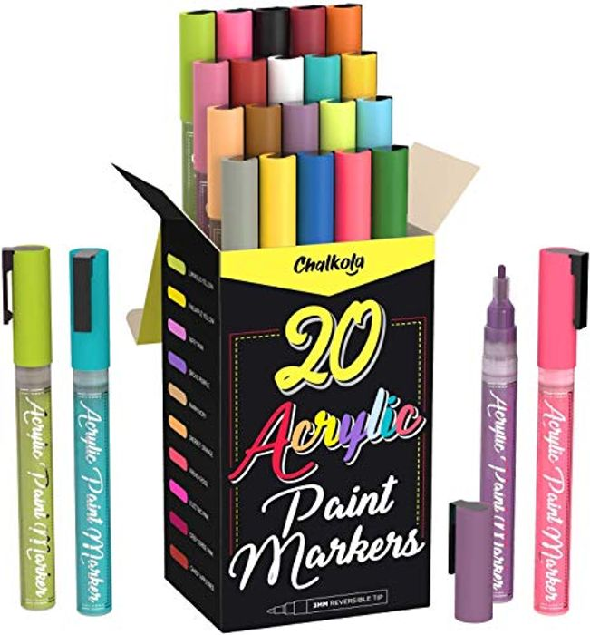 Half Price- Set of 20 Acrylic Paint Pens for Rock Painting