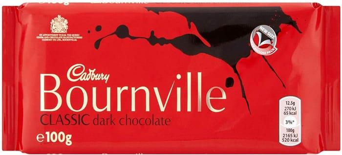 Cadbury Bournville Dark Chocolate Bar, 100g