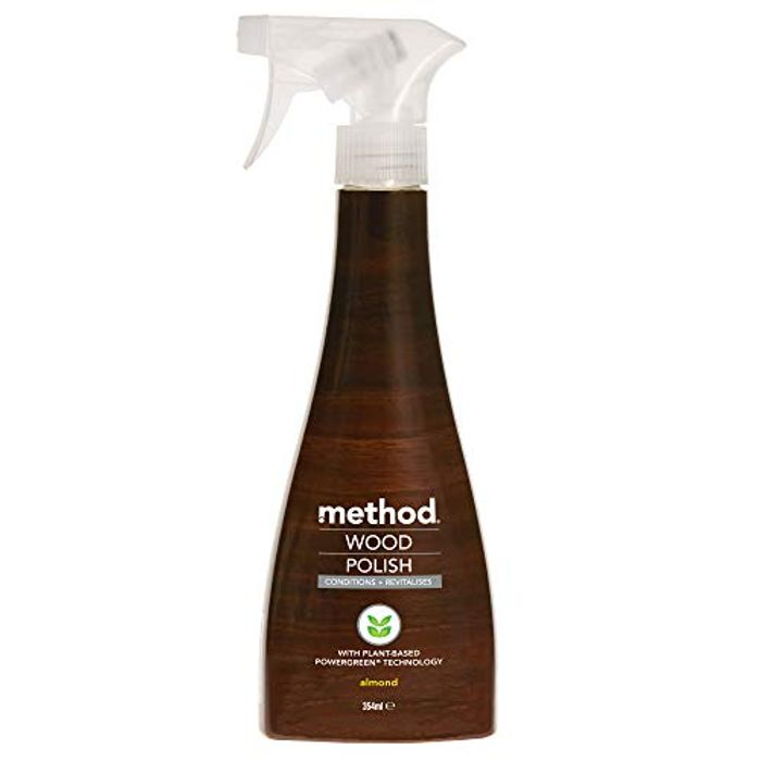 Method Almond Touch Wood Polish Spray, 354ml