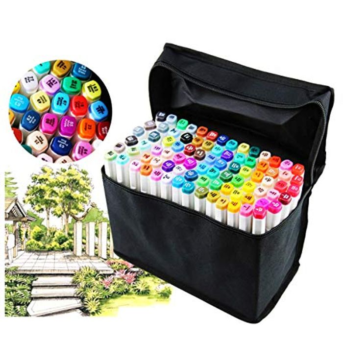 80 Different Colors Art Sketch Twin Marker Pens