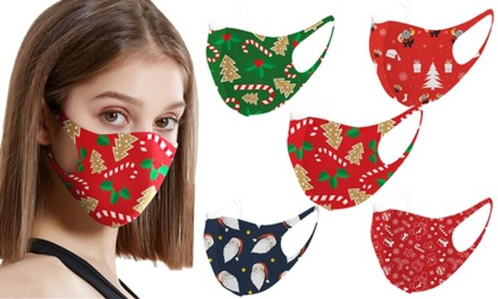 Up to 20-Pack of Christmas-Themed Face Mask