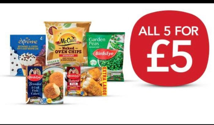 Freezer Fillers £5 or £4.50 NUS at Co-Op