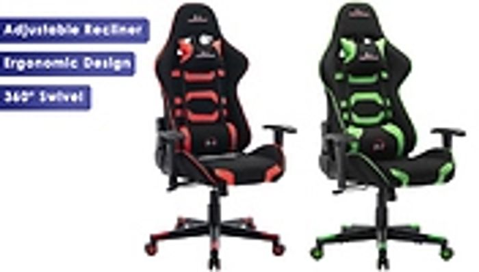 CHEAP! Adjustable Gaming Desk Chair - Red or Green