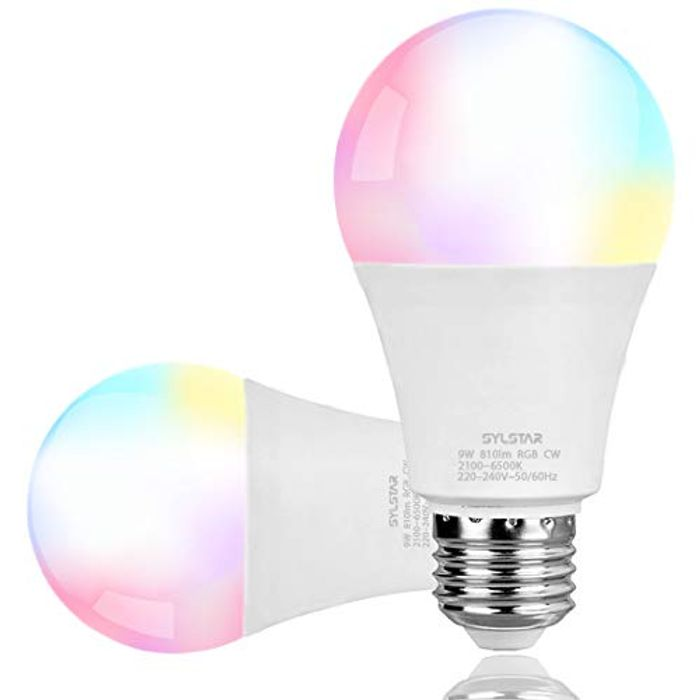 DEAL STACK - A19 9W LED Color Changing Smart Light Bulb + £2 Coupon