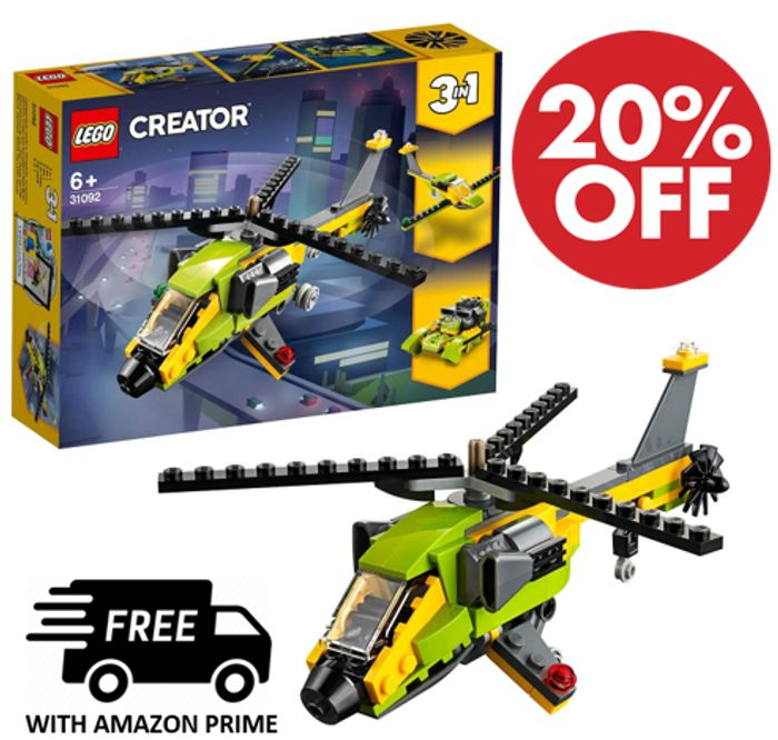 PRICE DROP! LEGO CREATOR: 3-in-1 Helicopter Adventure (31092)