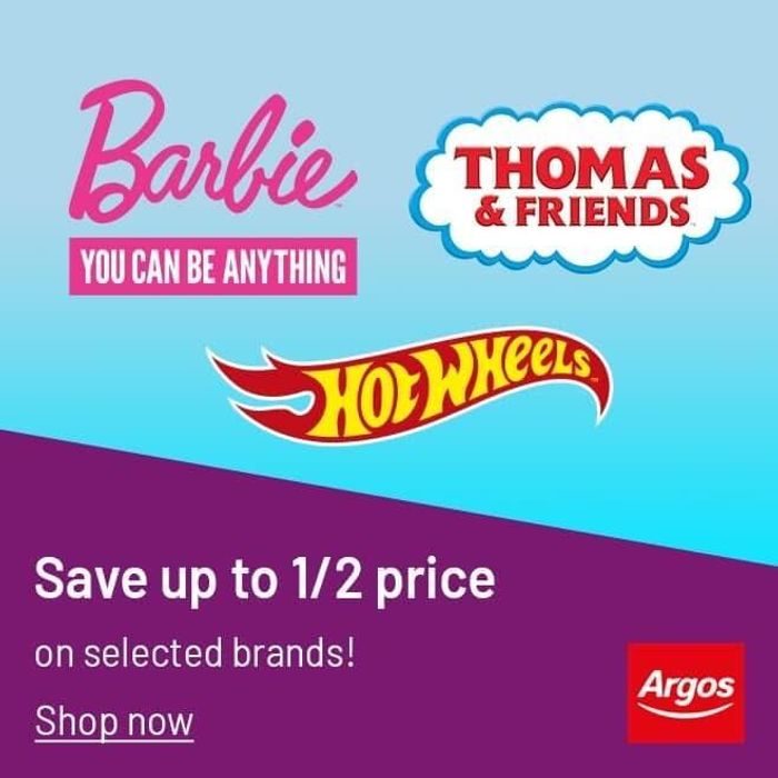 Argos - Up To Half Price Barbie, Hot Wheels & Thomas Toys!