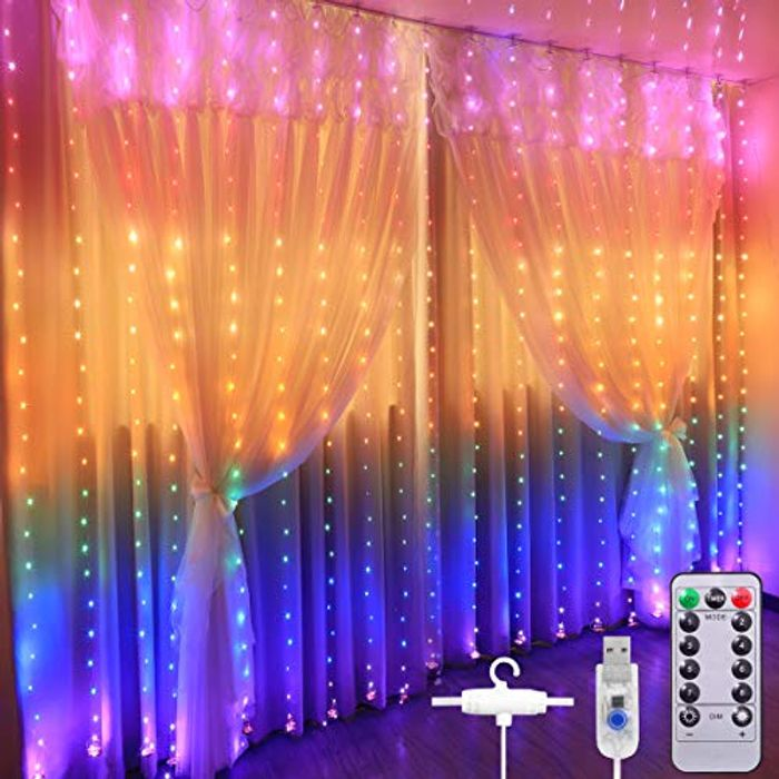 Curtain Lights, 3M*2.8M USB Powered Fairy String Lights with £7 off Coupon