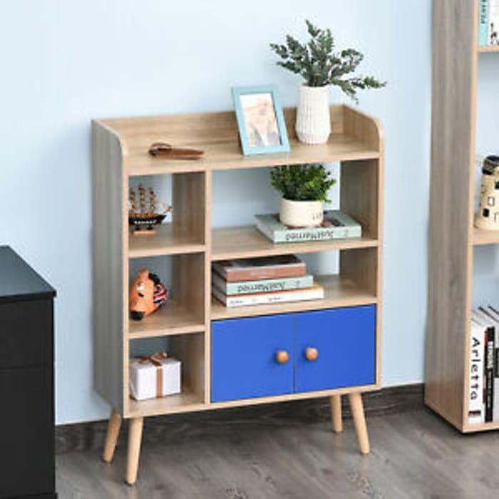 HOMCOM Multi-Shelf Bookcase Freestanding Storage Cabinet Shelves - Only £21.59!