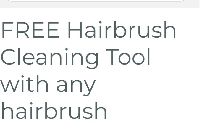 Free Hairbrush cleanerM