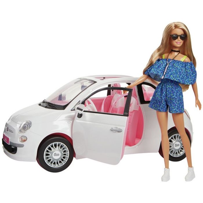 Barbie Fiat Car and Doll Exclusive at Argos