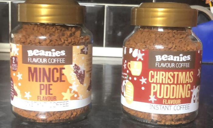 Beanies Coffee - Mince Pie , Christmas Pudding Ect