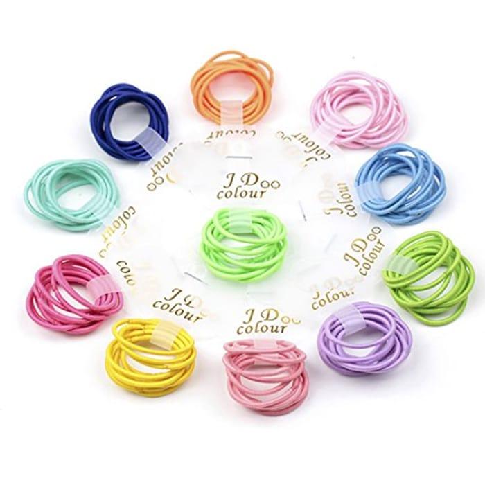 Price Drop! Children's Elastic Hair Bands- 100 Pcs