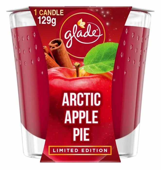 Glade Candle Arctic Apple Pie Air Freshener 129g - Only £2!
