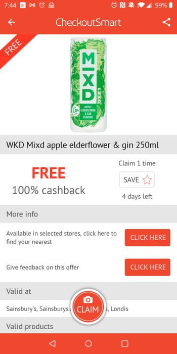 Free WKD Mixd Apple and Elderflower Gin at Sainsbury's with Checkoutsmart