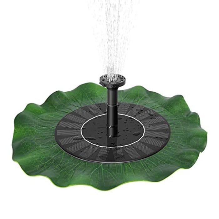 Price Drop! RainSund Solar Powered Water Fountain Pump
