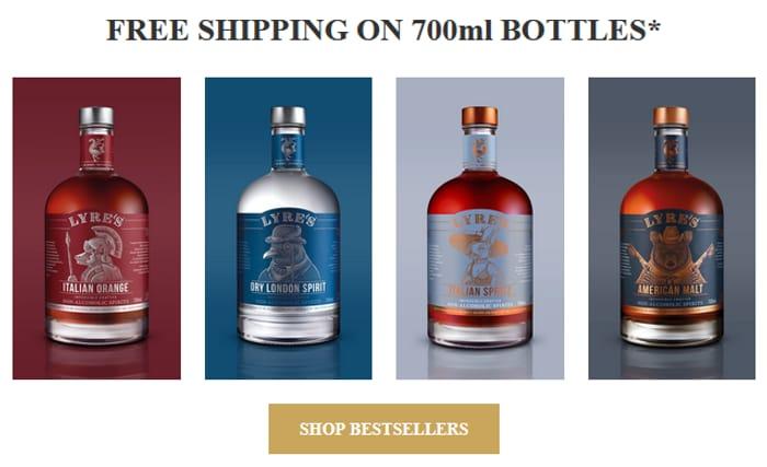 Free Shipping on 700ml Single Bottles