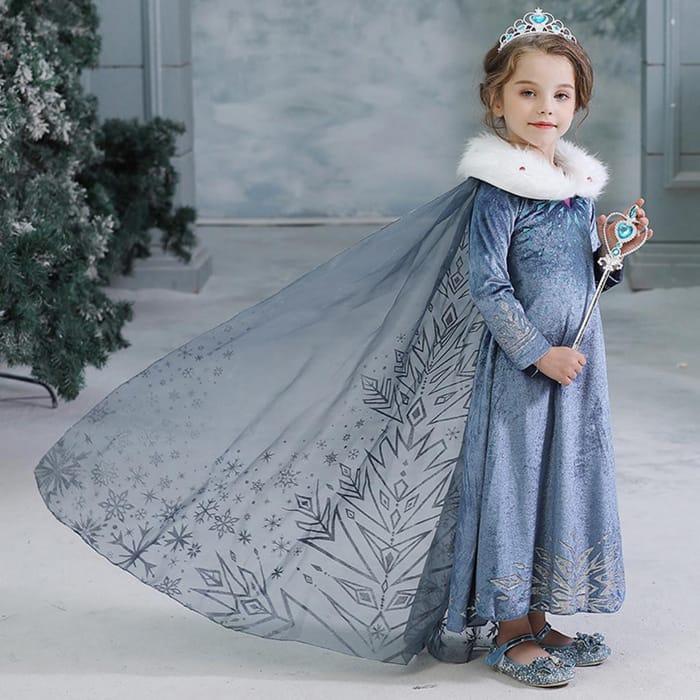 CHEAP! Frozen Anna / Elsa Princess Costume Dress With Cape - £10.99 Delivered