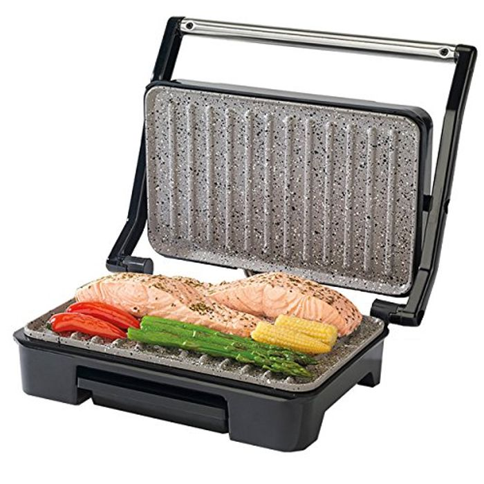 Salter Marble Health Grill, Stainless Steel 750W