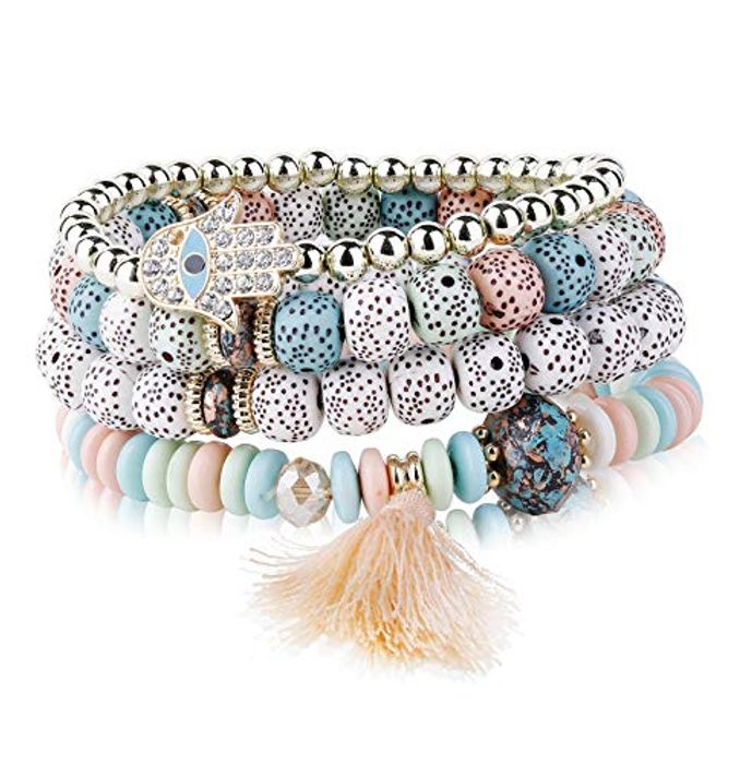 Adramata 4 Pcs Colorful Beaded Bracelets  Code & 20% Voucher