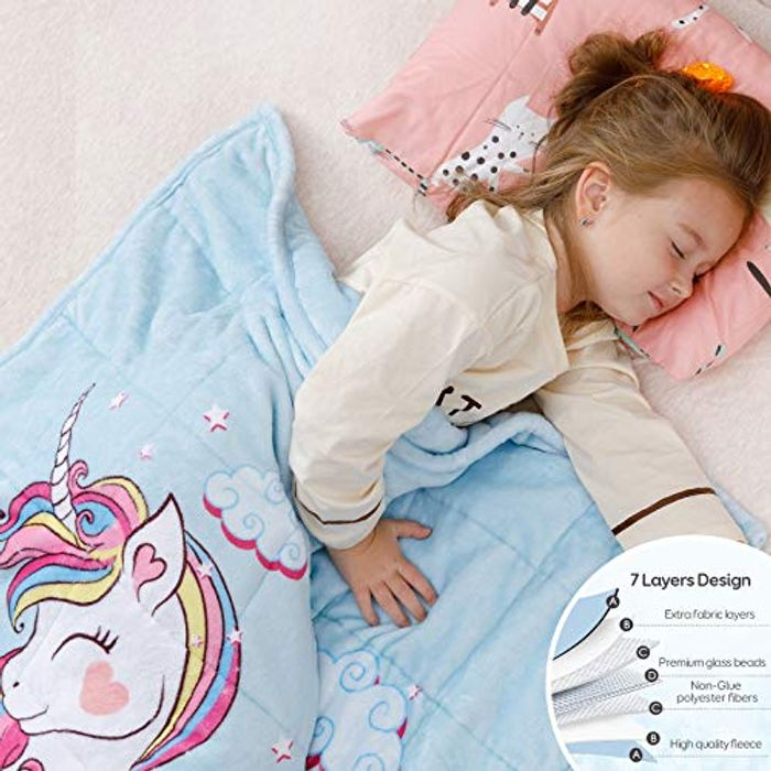 Save 60%- Anjee Kids Unicorn Weighted Blanket 3 KG