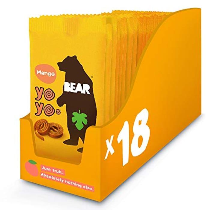 BEAR Mango Pure Fruit Yoyos 20g (Pack of 18)