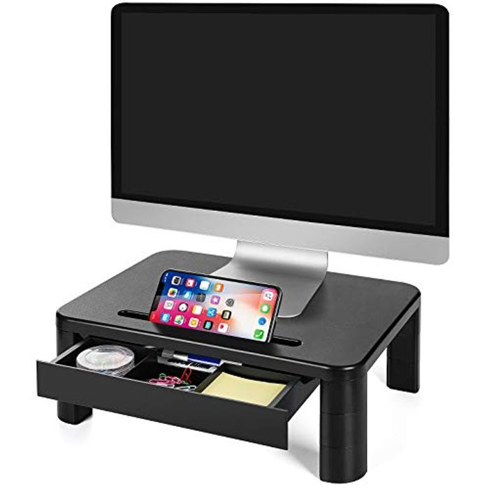 LORYERGO Monitor Stand for Desk with 3 Adjustable Height for PC Monitor
