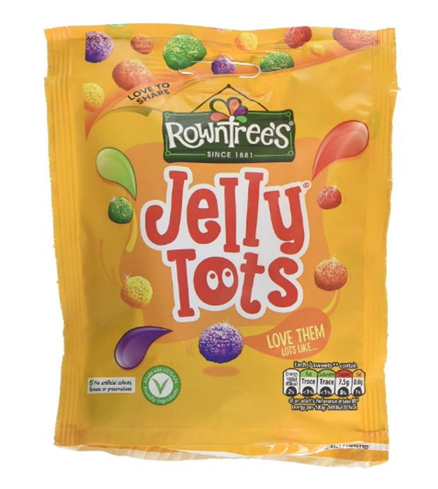 Rowntrees Jelly Tots Sweets Sharing Pouch, 150 G - Pack of 10 - Only £10!