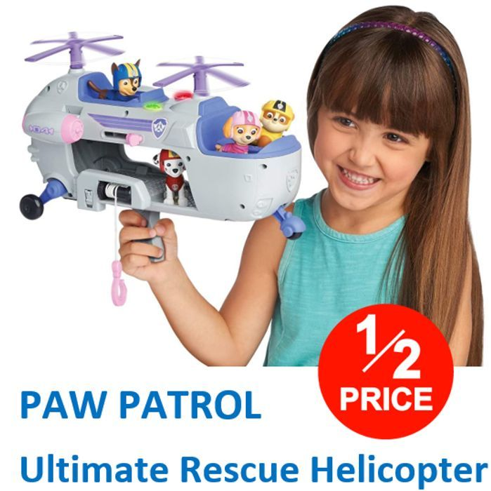 CHEAP! HALF PRICE - PAW PATROL - Ultimate Rescue Helicopter